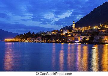 Limone sul Garda in Italy - Limone sul Garda on the shore of...