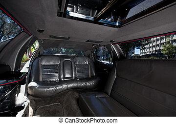 Limousine Interior - Detail shot of a limousine interior...