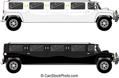 limousine., lastbil, vip, to