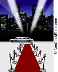 limousine, moquette rossa