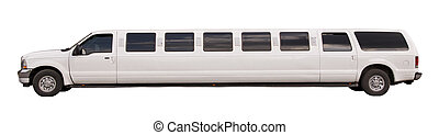 Limousine on a white background