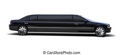 limousine, op wit