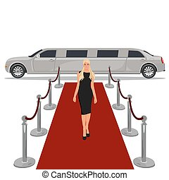 limousine with red carpet concept