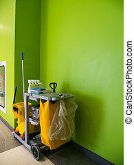 limpador, conceito, cleaning.bucket, serviço, serviço,...