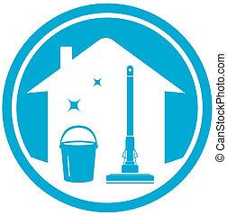 limpeza casa, ícone