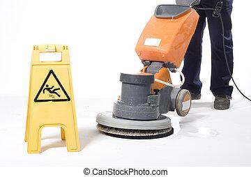 limpeza, chão