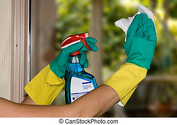 limpeza, janelas