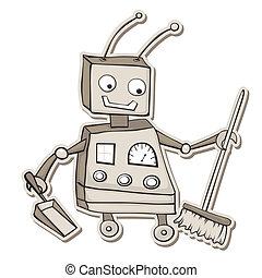 limpeza, robô