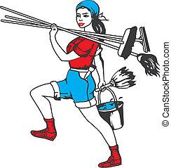 limpeza, serviço