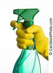 limpiador, mano