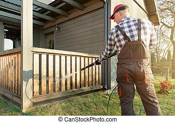 Presión Arandela Limpieza Terraza Limpiador Potencia