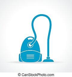 limpiador, vacío, icono
