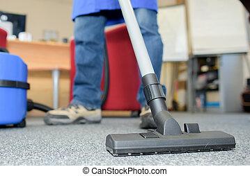 limpiador, vacío, profesional
