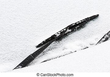 limpiaparabrisas, nieve