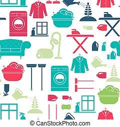 limpieza de la casa, seamless
