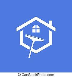 Hogar comercial limpieza logotipo elementos comercial for Empresas de limpieza para casas particulares