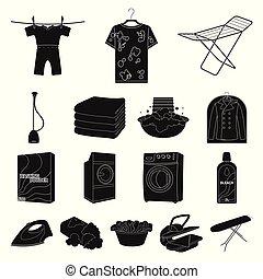 Equipo casa conjunto lavar ropa plano lavado limpio - Limpieza en seco en casa ...