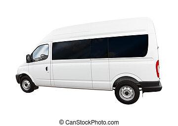 limpio, blanco, furgoneta