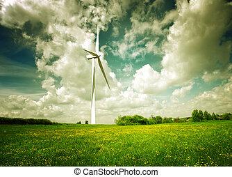limpio, verde, energía