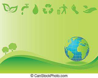 limpo, meio ambiente, e, terra