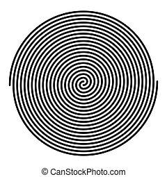 linéaire, deux, entrelacé, spirales, grand