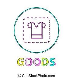 linéaire, illustration, signe, vecteur, habillement, contour