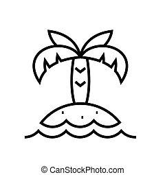 linéaire, signe, exotique, contour, recours, ligne, icône, illustration, symbole., vecteur, concept