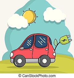 lina wóz, technologia, elektryczność
