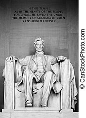 lincoln abraham, 워싱톤, 기념물, dc