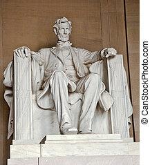 lincoln abraham, monumento conmemorativo, estatua