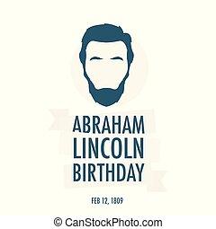 lincoln., anniversaire, abraham, président