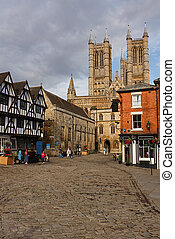 Lincoln Castle Square - The view of Lincoln Cathedral across...