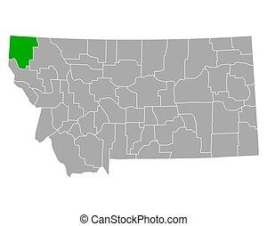 lincoln, mapa, montana