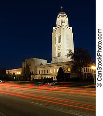 Lincoln Nebraska Capital Building Government Dome Architecture