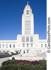 Lincoln, Nebraska - State Capitol Building.