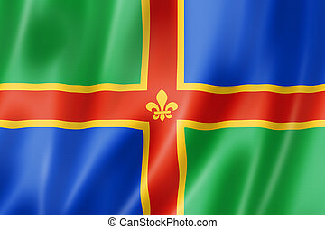 Lincolnshire County flag, UK