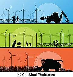 linda, vindmotorer, bygd, generatorer, elektricitet