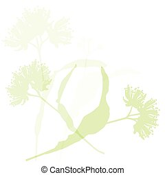 Linden flowers ecology background vector abstract