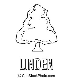 Linden icon, outline style.