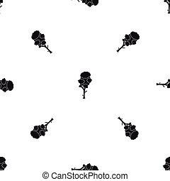 Linden pattern seamless black