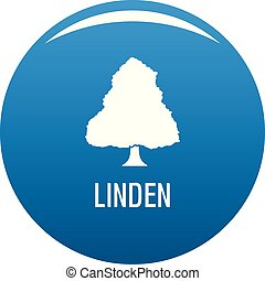 Linden tree icon blue vector
