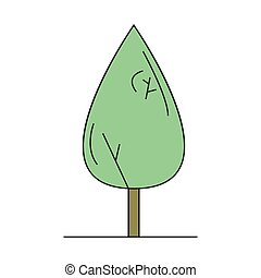 Linden tree isolated on white background vector illustration