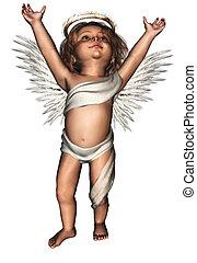 lindo, ángel, guardián