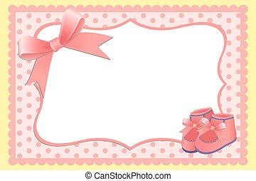 lindo, bebé, plantilla, tarjeta