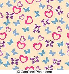 lindo, bebé, seamless, pattern.