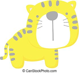 lindo, bebé, tigre