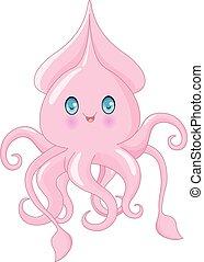 lindo, calamar