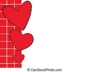 lindo, corazones del amor