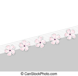 lindo, flor, plano de fondo, primavera