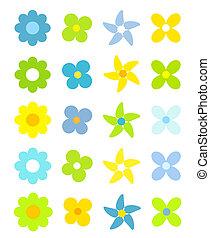 lindo, flores